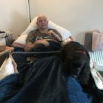 photo of DMWS service user Gary and his Dog